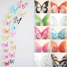 3d butterfly sticker design decal wall stickers home decor tile