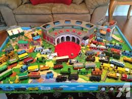 thomas the tank engine table top reduced price huge thomas the train collection and table for sale