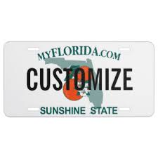 Florida Vanity Plate Cost Aluminum License Plates U0026 License Plate Designs Zazzle