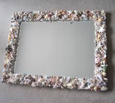 seashell mirrors for beach decor nautical decor shell mirror in