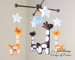 Moving Baby To Crib by Baby Mobile Baby Crib Mobile Nursery Giraffe Mobile