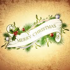 vintage merry greetings design stock vector illustration