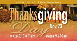 mount olivet church thanksgiving services and events