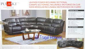 costco pulaski furniture leather power reclining sectional
