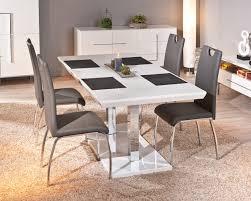 chaises grise lot de 2 chaises utah en eco cuir gris belfurn