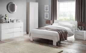 White Gloss Bedroom Drawers Manhattan Gloss Bedroom Julian Bowen Limited