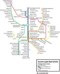Houston Metro Map by Vision For An Austin Metro Wide Light Rail System Rail Now