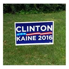 clinton kaine yard sign the blue deal llc