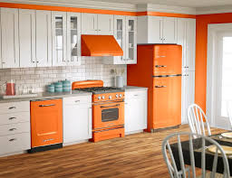 orange and white kitchen ideas orange color kitchen design home design plan