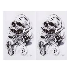 skull arm sleeve online get cheap skull sleeve tattoo designs for men aliexpress