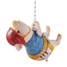 kevin the rock climbing hanging garden pig garden ornament