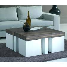 ottoman with 4 stools coffee table with 4 ottomans ctznzeus com