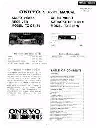 download free pdf for onkyo tx ds484 receiver manual