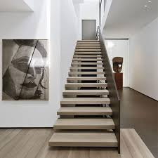 Floating Stairs Design with Wooden Floating Staircase Design