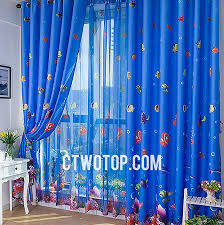 Kid Blackout Curtains Cute Fun Finding Kids Blackout Nemo Royal Blue Best Curtains
