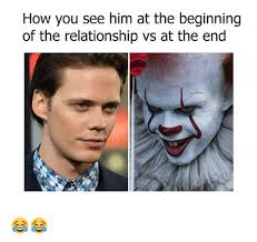 Relationship Memes For Him - how you see him at the beginning of the relationship vs at the end