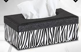 zebra tissue paper zebra wood leather rectangular tissue storage boxes cover napkin