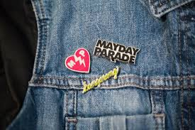 parade pins mayday parade on we ve got pins you re stuck with us