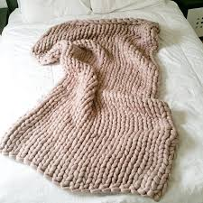 chunky knit blanket throw merino wool blanket home decor interior
