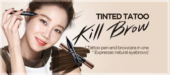 clio tattoo eyebrow pen 186 clio professional tinted tattoo kill brow review tenshichn