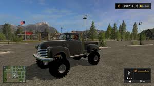 mudding cars 1950 chevy 4x4 pickup truck v1 0 fs17 farming simulator 2015