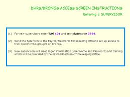 dhrs u2013 kronos screen user guide ppt video online download