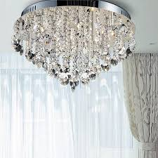 crystal semi flush mount lighting modern crystal ceiling lights 18 methods to get your bedrooms