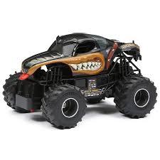 rc monster jam trucks new bright 1 24 radio control monster jam truck mutt rottweiler