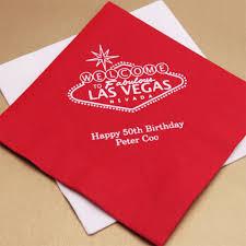 las vegas personalized napkins 50 pcs las vegas wedding favors