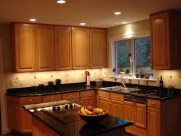 modern recessed lamps with led strip kitchen lighting ideas for