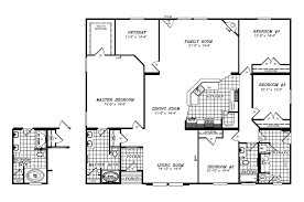 triple wide floor plans the la belle vr41764d manufactured home