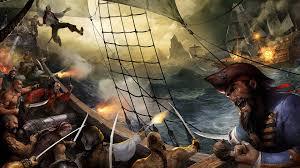 pirate sail wallpapers ocean guns waves ships pirates cannons battles digital art