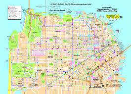 San Francisco County Map by 0 Tourist Map San Francisco Muni Bus System 0a Jpg Learn The