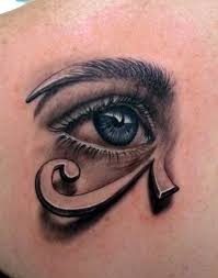 this artistic combines a eye and graphic of the e