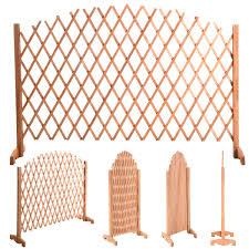 Patio Supplies by Expanding Portable Fence Wooden Safety Gate Dog Supplies Pet