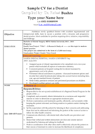 modern format of resume cv dentist