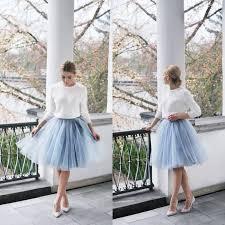 tulle wholesale wholesale light blue tulle women formal wears knee length a