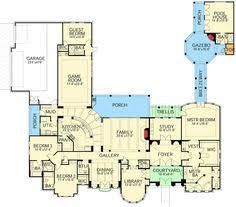 v shaped luxury home plan 36235tx 1st floor master suite cad