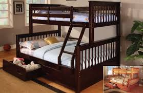 eli mission espresso twin full bunk bed arts and crafts beds drawers