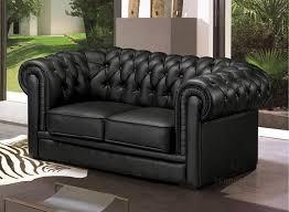 canape chesterfield noir fauteuil 1 place en cuir italien chesterfield noir mobilier privé