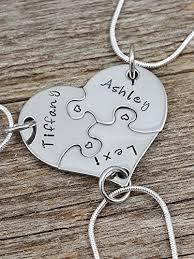 heart puzzle necklace images Best friends necklace set 3 piece heart puzzle jpg