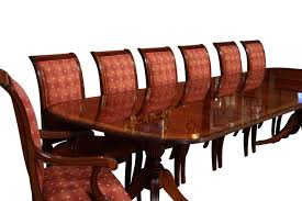 Dining Table Seats 14 High End Dining Table Federal Style 12 Foot Mahogany Dining Tab