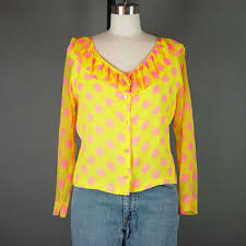 shop sheer polka dot blouse on wanelo