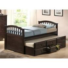 Twin Captains Bed With Drawers Wildon Home Captain Bed With Trundle And Storage Drawers Size Twin