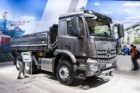 mercedes commercial trucks mercedes arocs 2643 k dump truck at the 65th iaa commercial