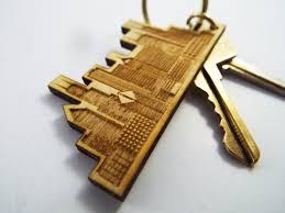 house warming present city skyline key chain chicago key tag custom urban key chain