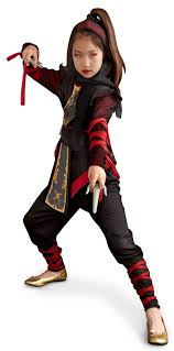 ninja dragon child costume ninja costume ribbon wrap and