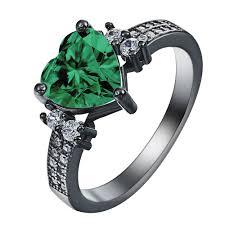 rings love heart images Black gold red love heart rings for women engagement ring female jpg
