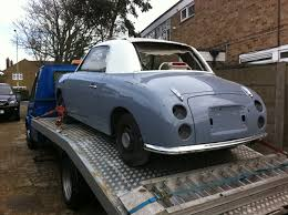nissan figaro for sale nissan figaro in lapis grey our ex demo figaro www
