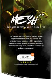 example of a flyer for an event mesh music band musician event club theme by stylishthemes
